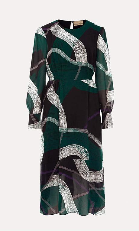 Saoirse Swirls Chiffon Dress