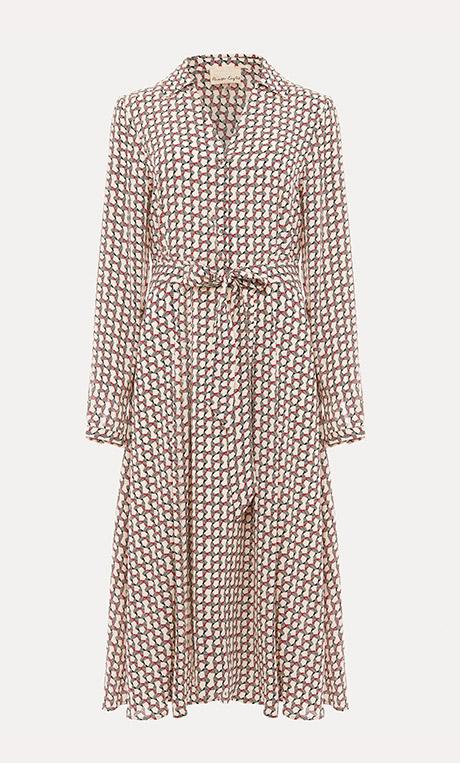 Neille Geometric Print Dress