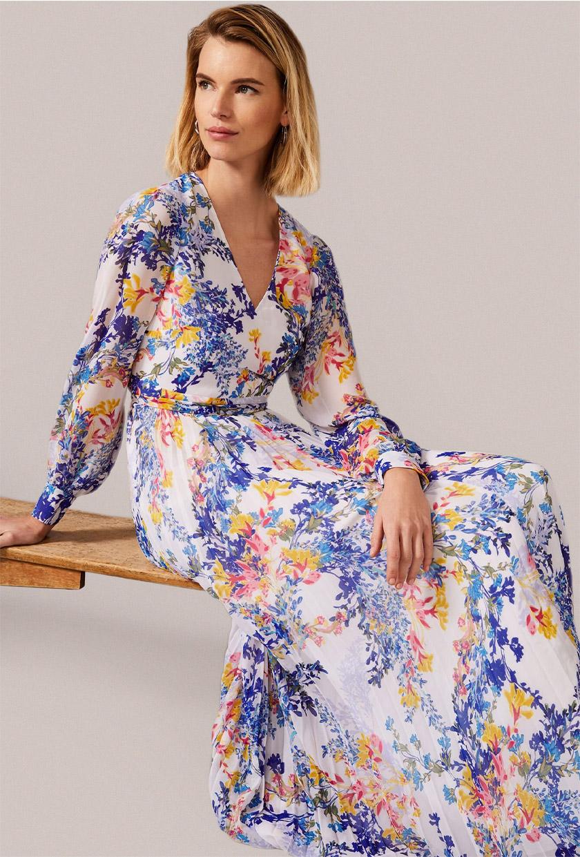Daryl Pleated Maxi Dress