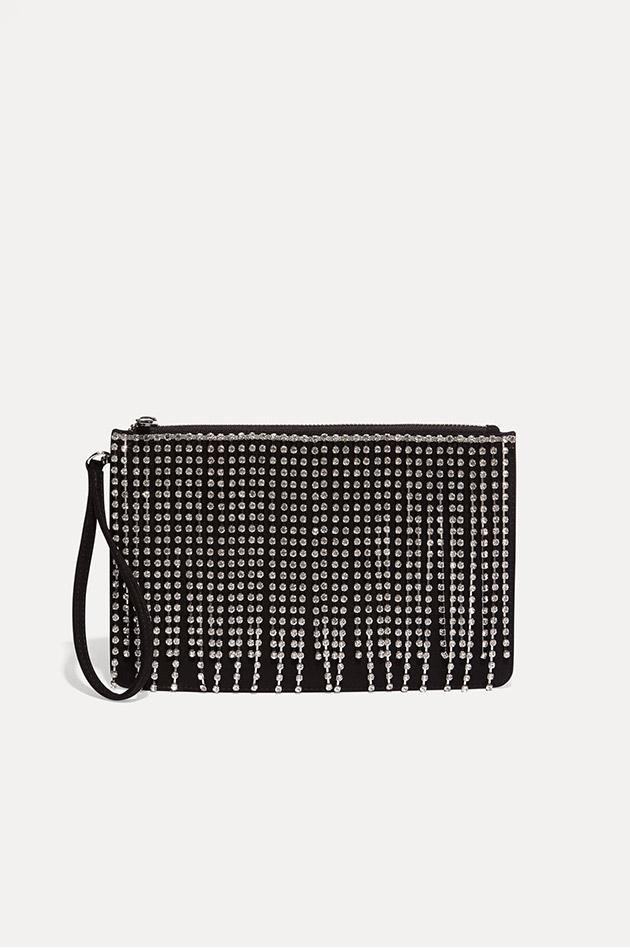 Shae Sparkle Tassel Clutch Bag