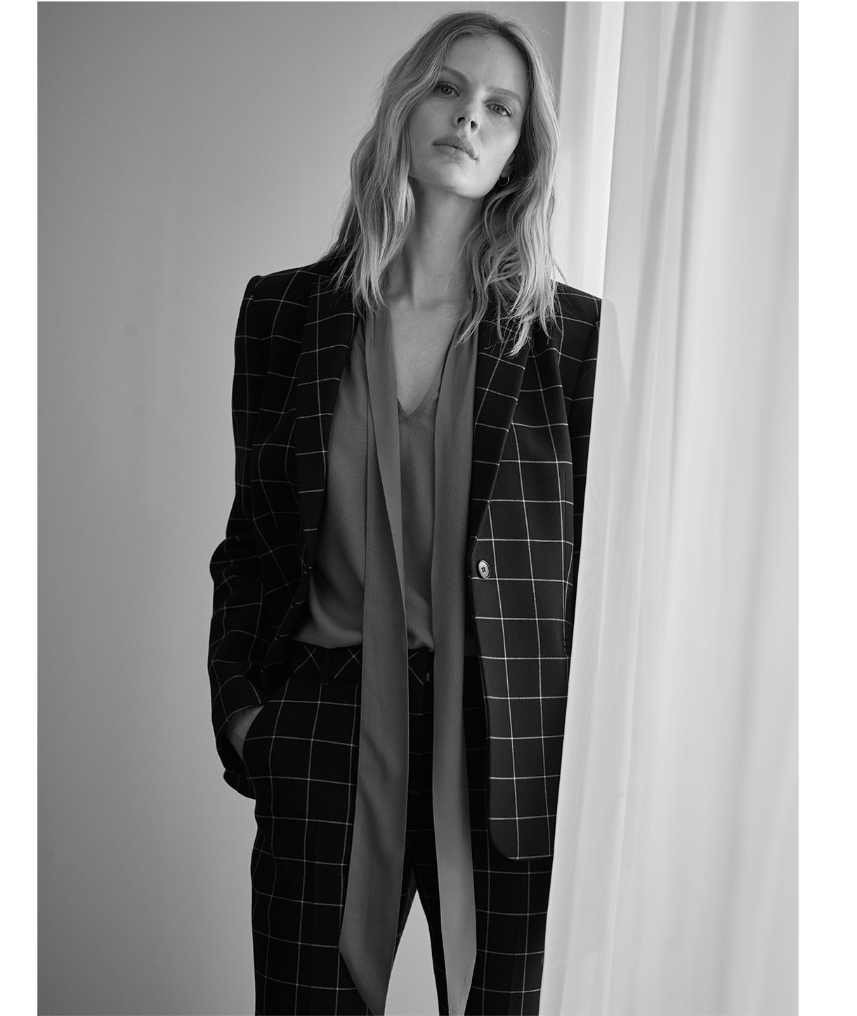 Shop Toni Check Suit Trousers