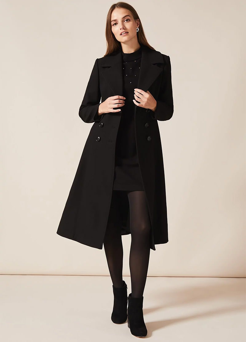 Sandra Swing Midi Coat