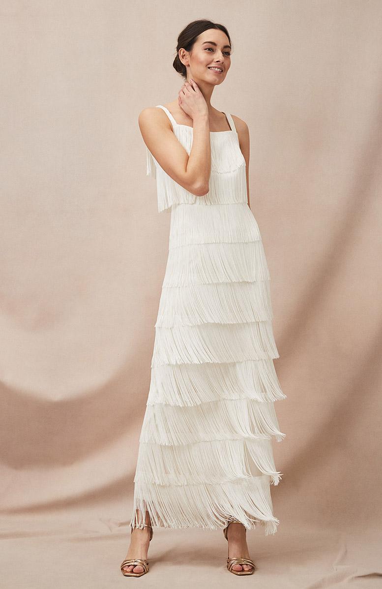 Elecia Fringe Wedding Dress £250