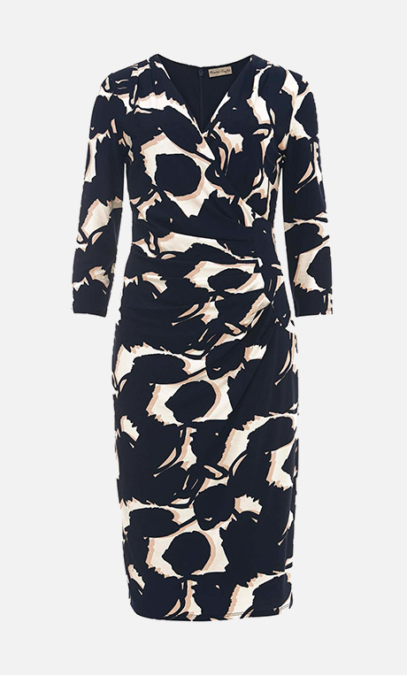 Alissa Sprig Print Mesh Dress