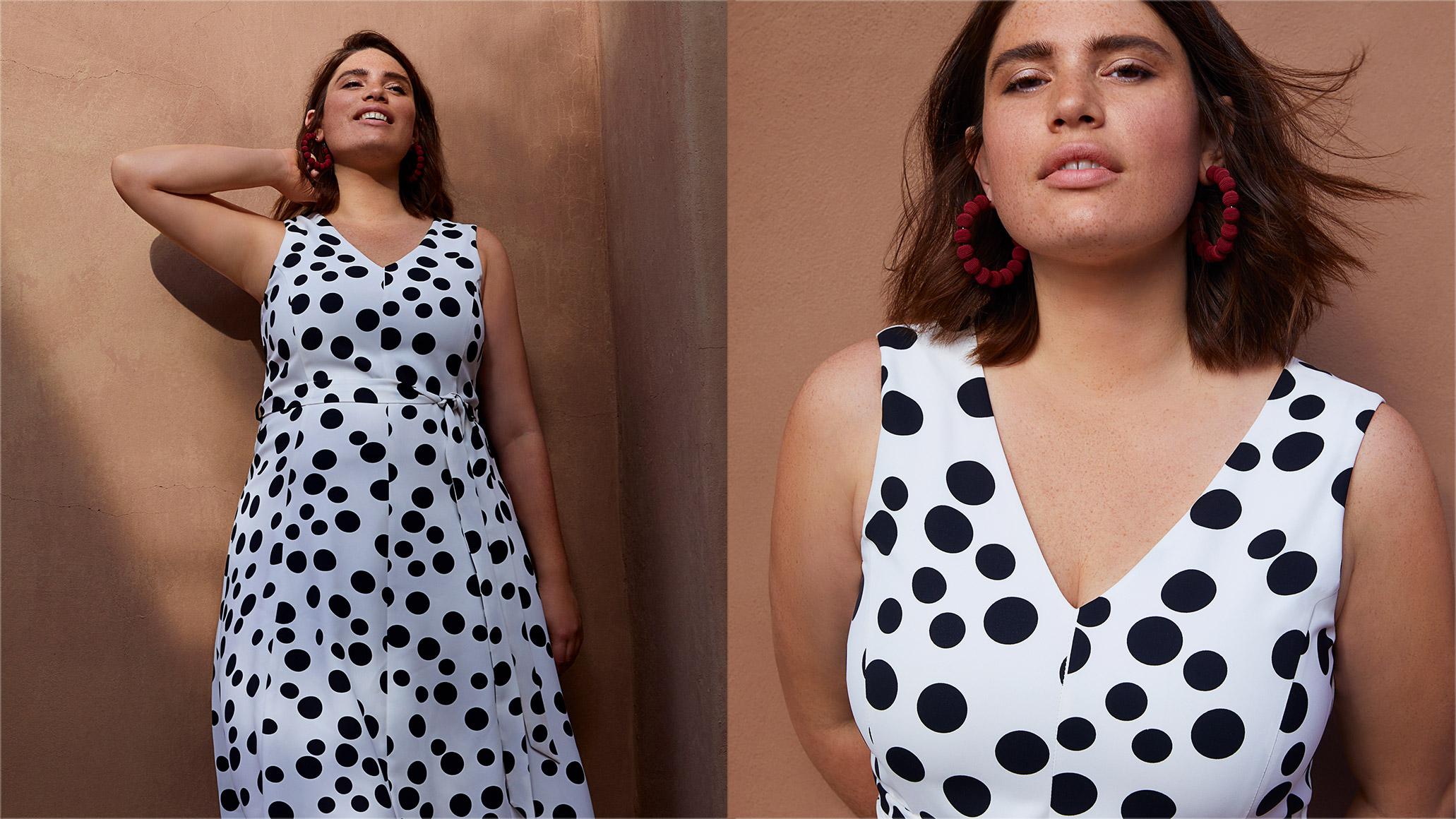 Caprice Spot Dress