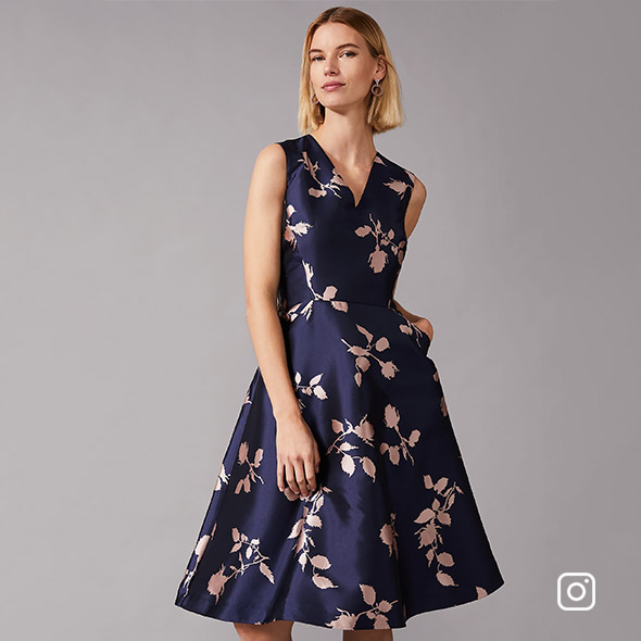 Jordyn Jacquard Fit And Flare Dress