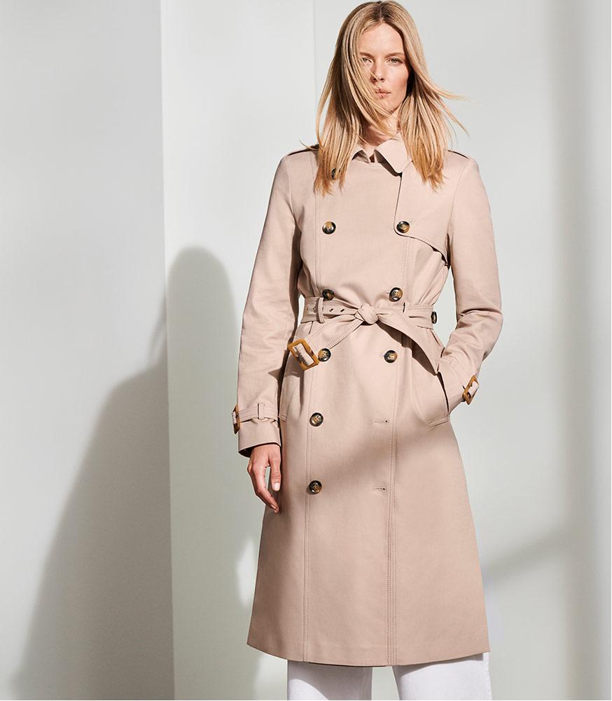 Lise Long Trench Coat