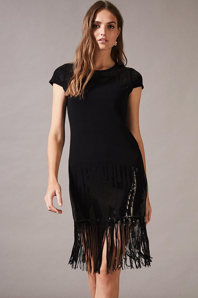 Ferne Fringe Sequin Dress