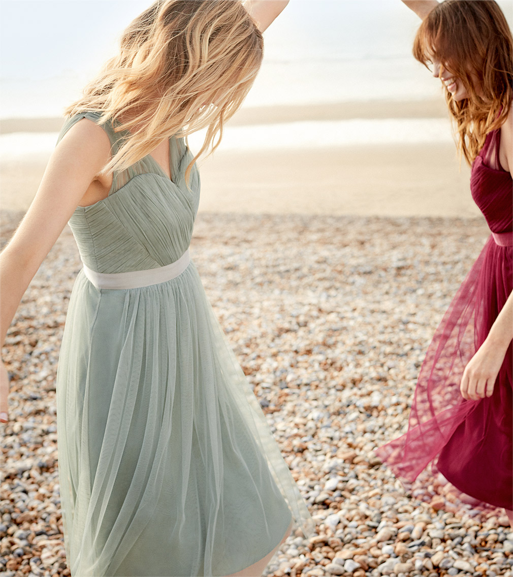 Romy Tulle Dress Pale Mint £89 | Romy Tulle Dress Magenta £70