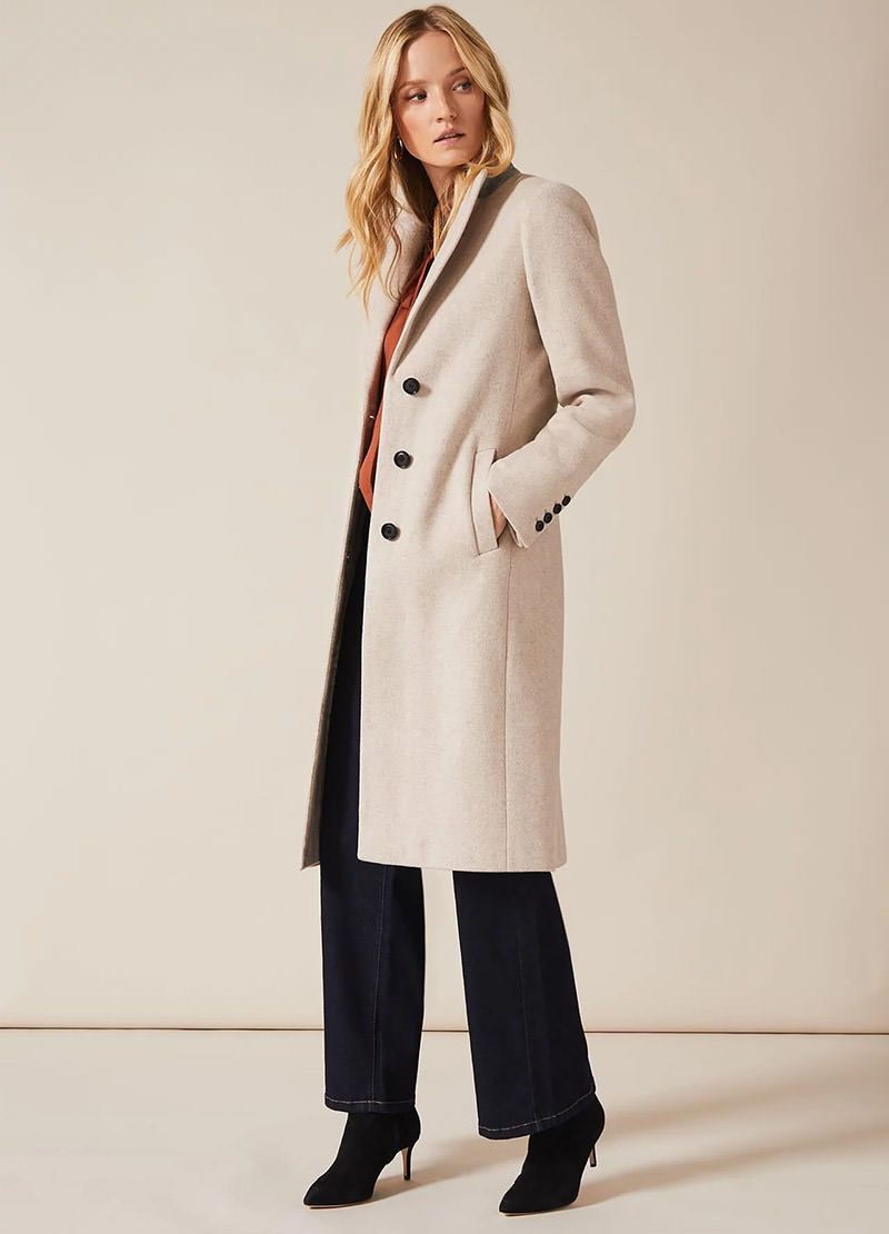 Samantha Single Breasted Wool Coat