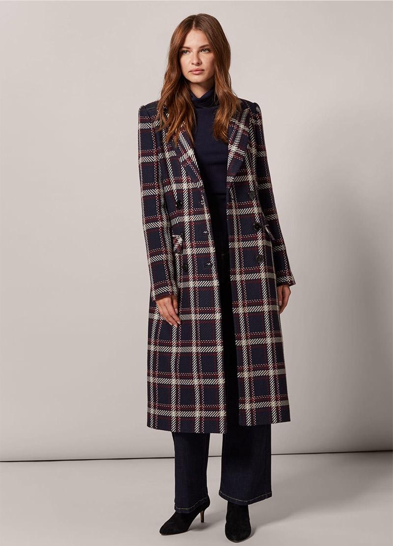 Candice Check Coat