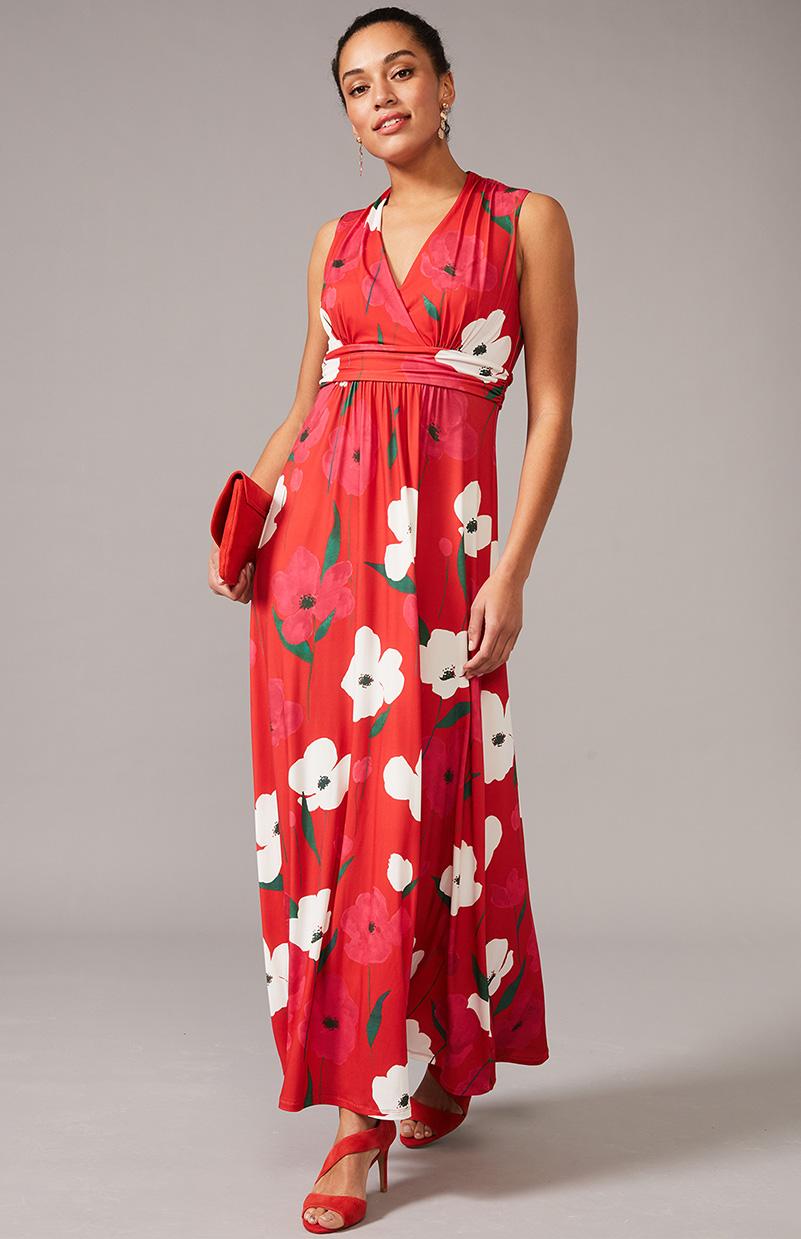 Lou-Poppy Jersey Maxi Dress