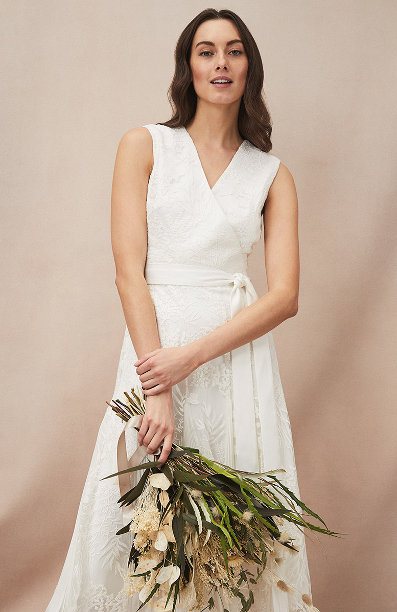 Caterina Embroidered Flared Wedding Dress £295