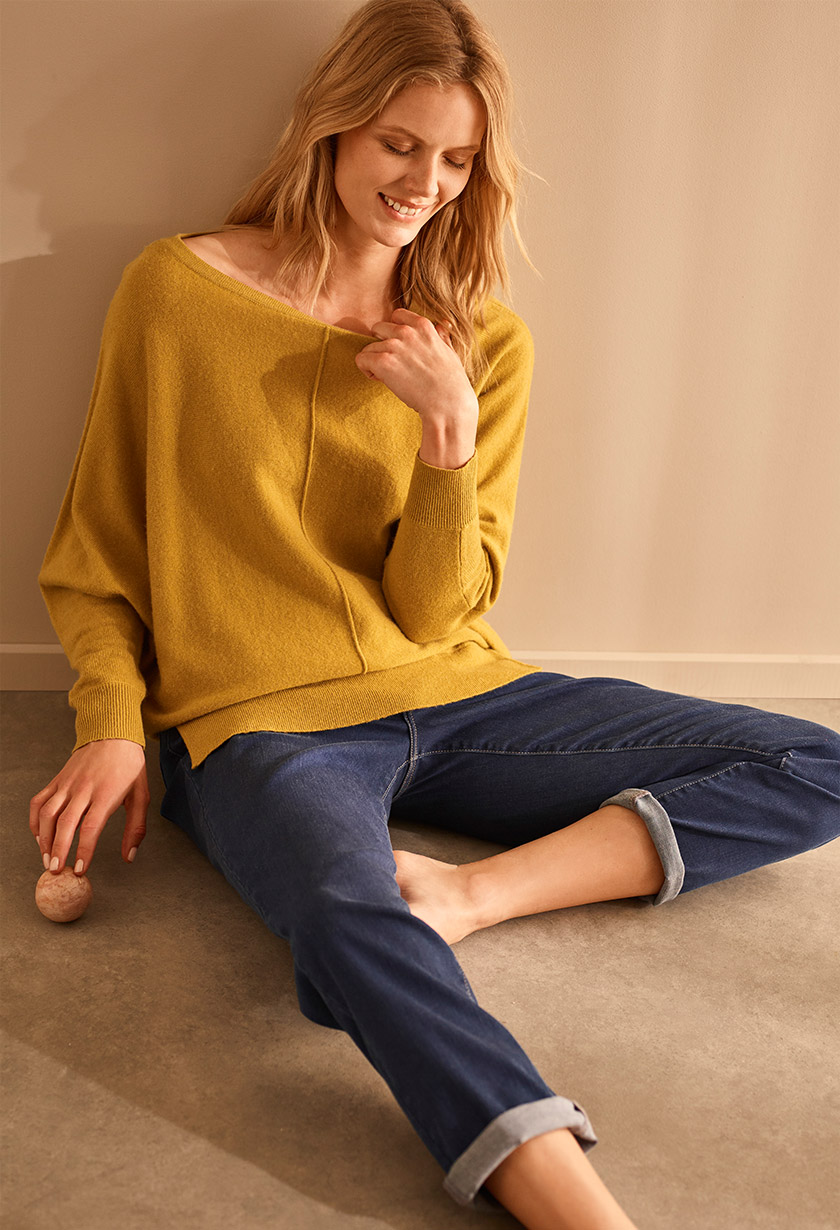 Shop Eve Exposed Seam Boxy Knit