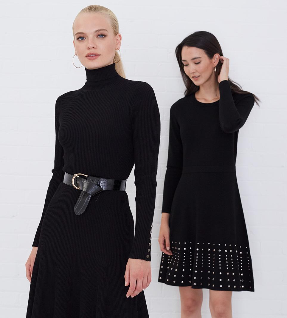 Kai Fit N Flare Dress £99 | Accalia Stud Dress £110