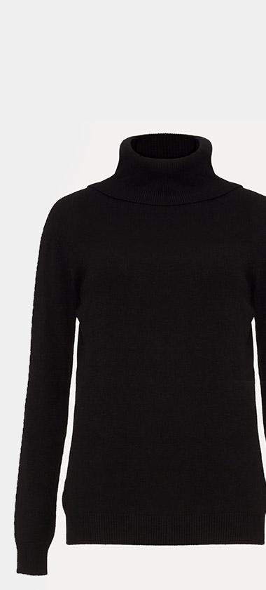 Freya Fitted Polo Neck Jumper