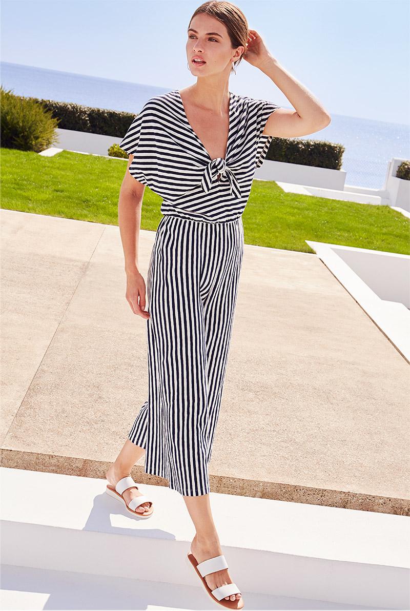 Janine Linen Blend Striped Jumpsuit £49