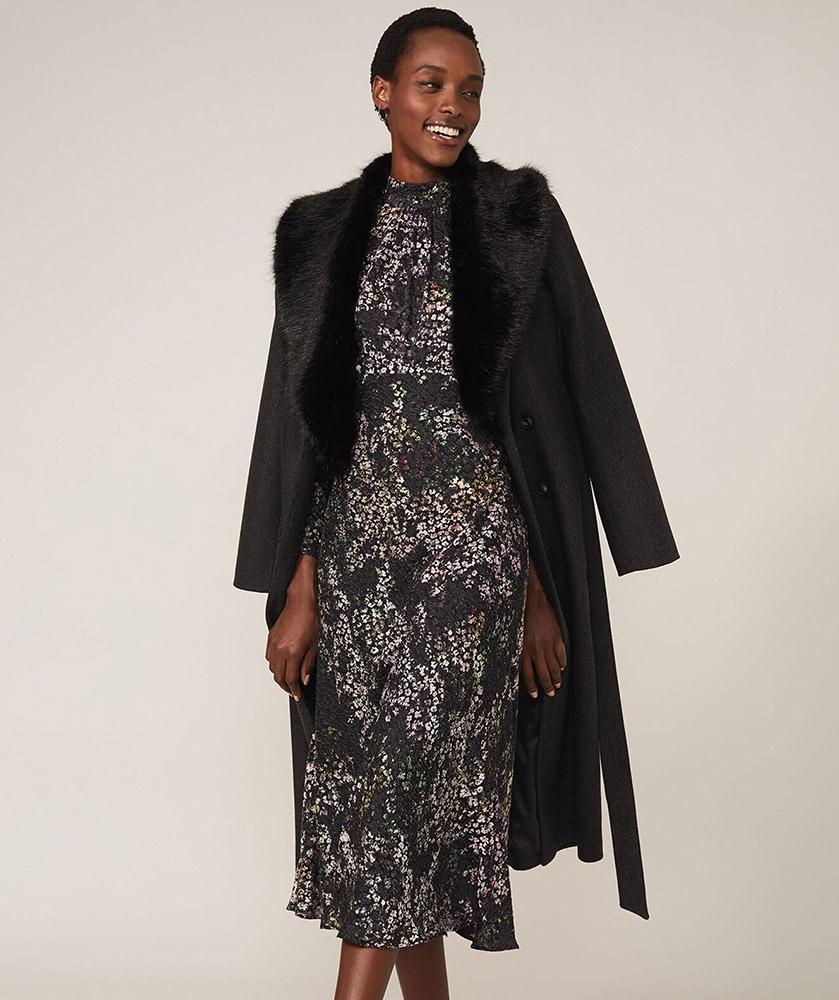 Elinore Printed Burnout Dress
