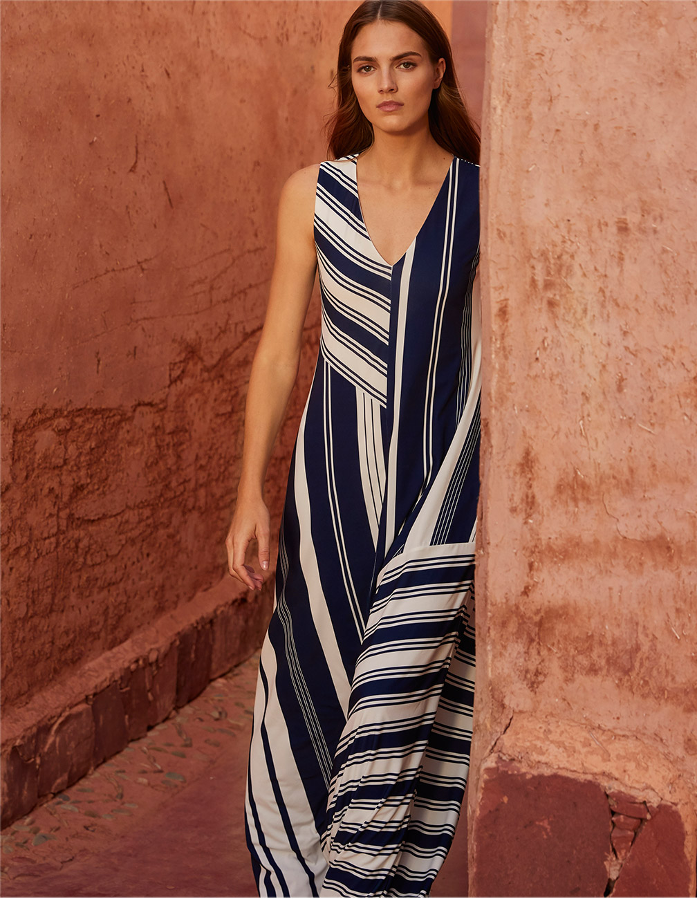 Shania Stripe Maxi Dress