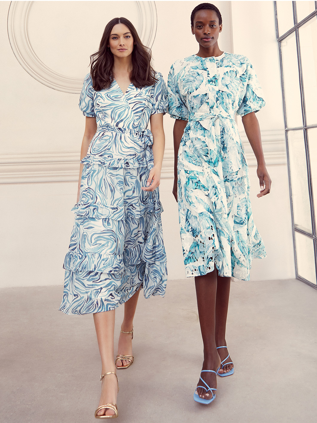 Iona Swirls Print Dress