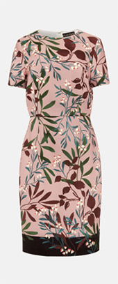 Joan Double Layer Printed Dress