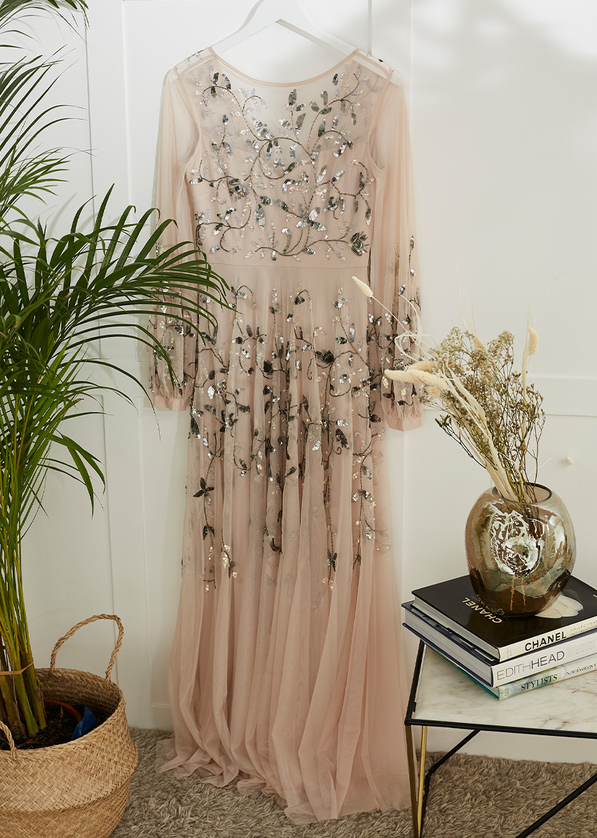 Cherrie Embellished Tulle Maxi Dress