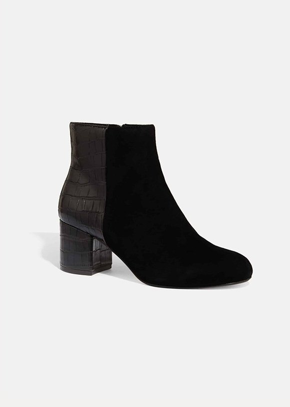 Helena Croc Ankle Boot