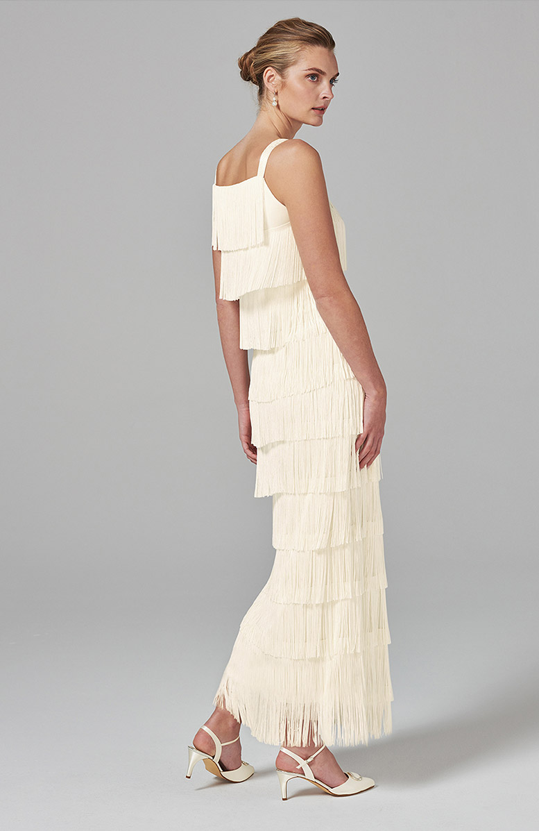 Elecia Fringe Wedding Dress - £250