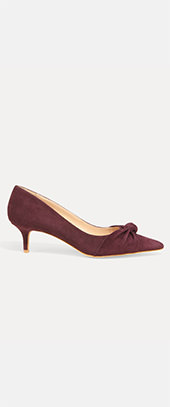 Carrie Knot Front Kitten Heel Court Shoe