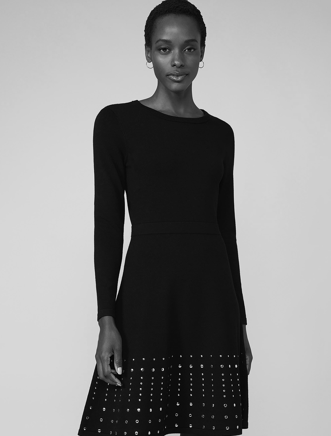 Accalia Stud Fit and Flare Dress
