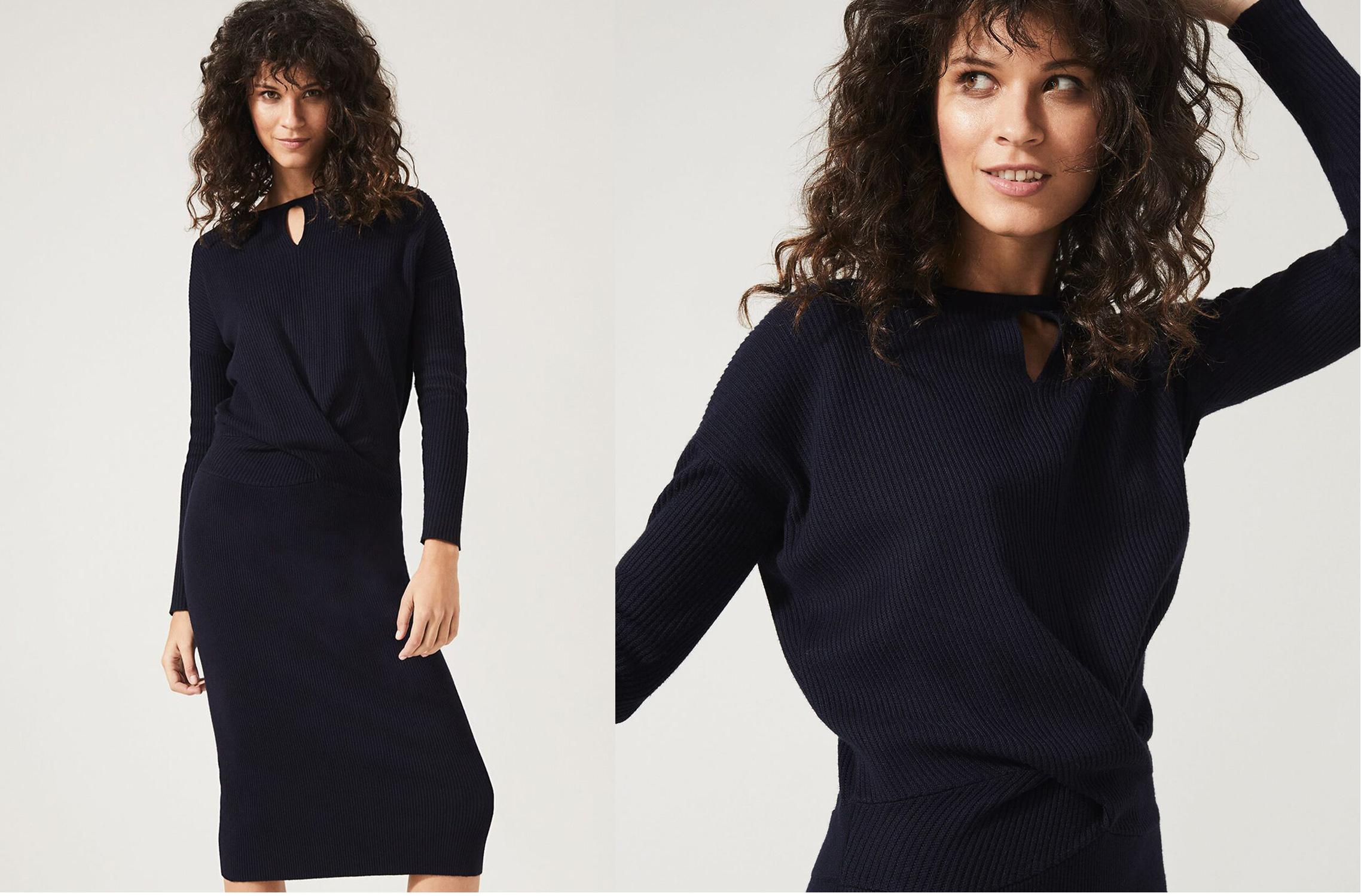Annis Twist Knit Dress