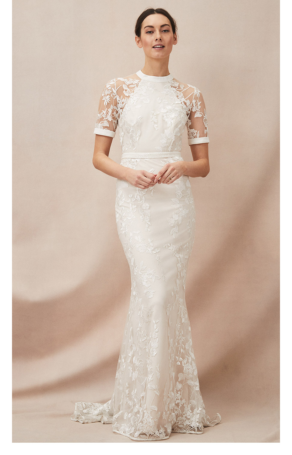 Poppy Embroidered Wedding Dress £450