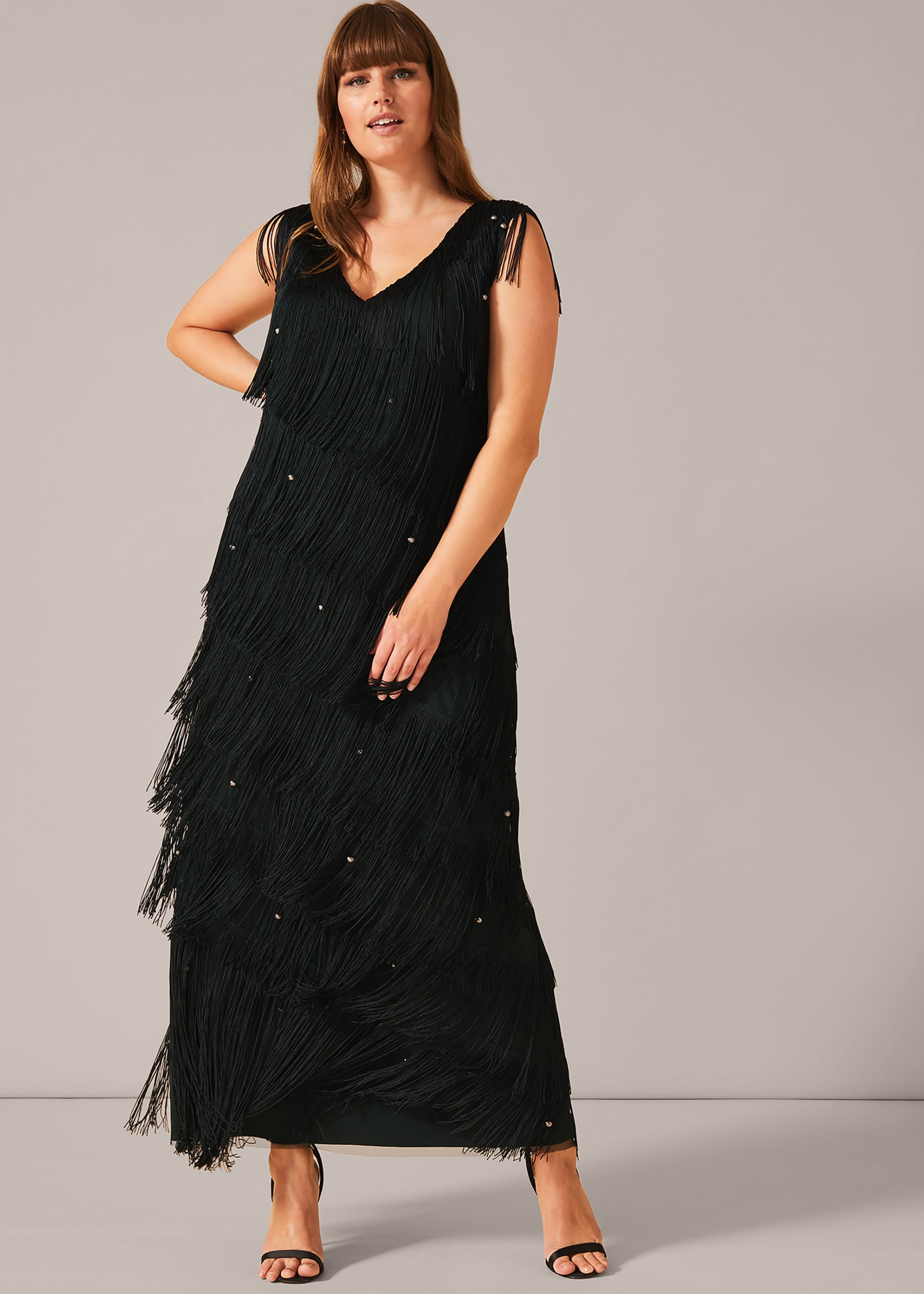 Studio 8 Women Siena Fringe Maxi Dress