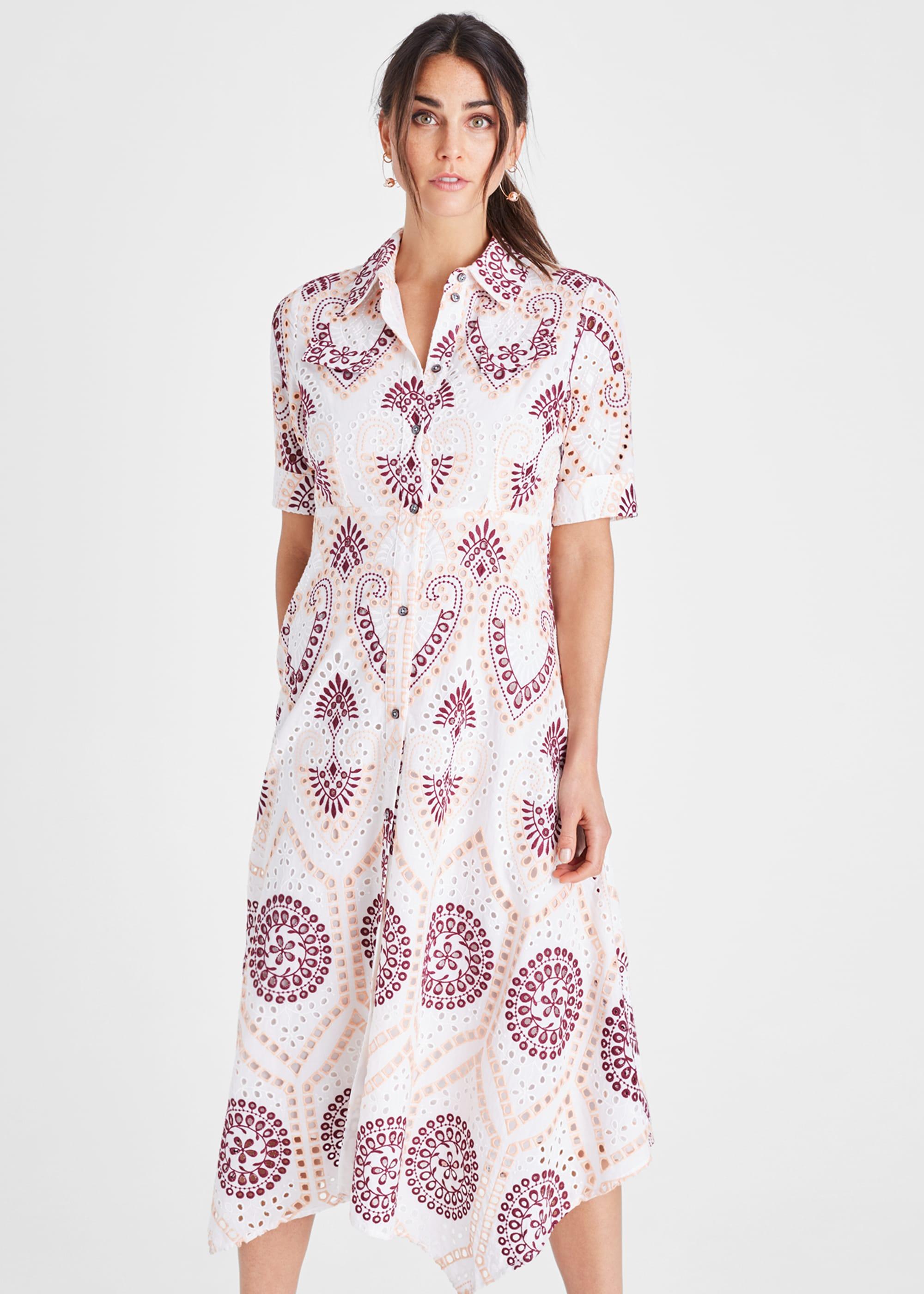 Damsel in a Dress Women Kaylor Embroidered Shirt Dress