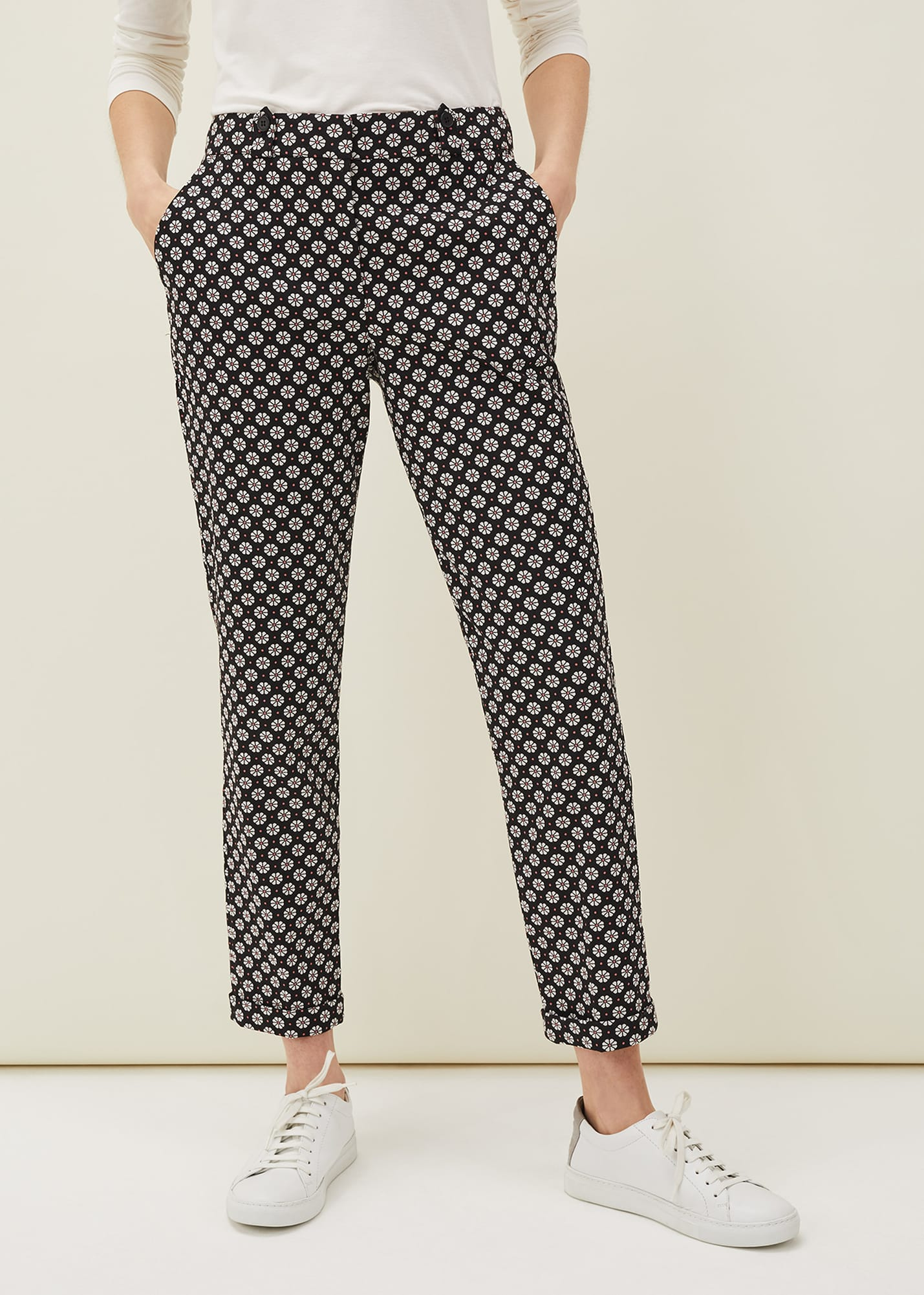 Phase Eight Women Ryleigh Geometric Print Tapered Trouser
