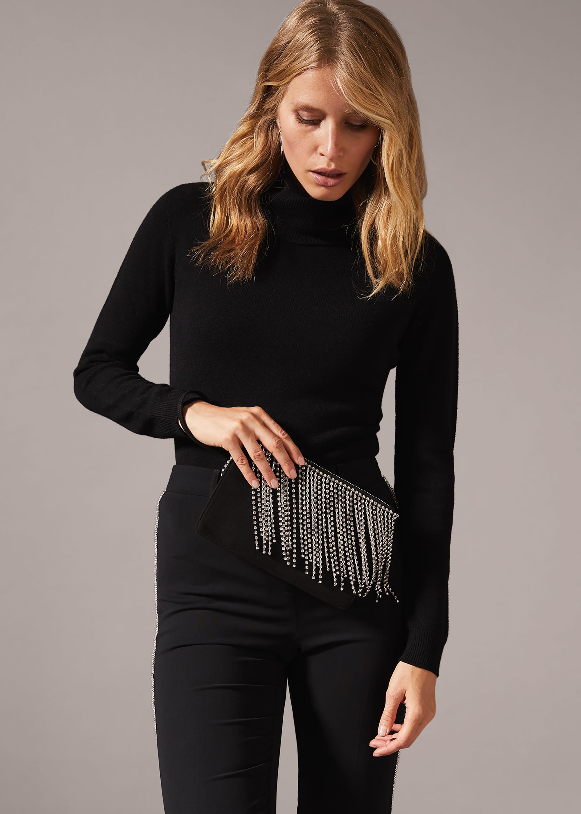 Phase Eight Women Shae Sparkle Tassel Clutch Bag