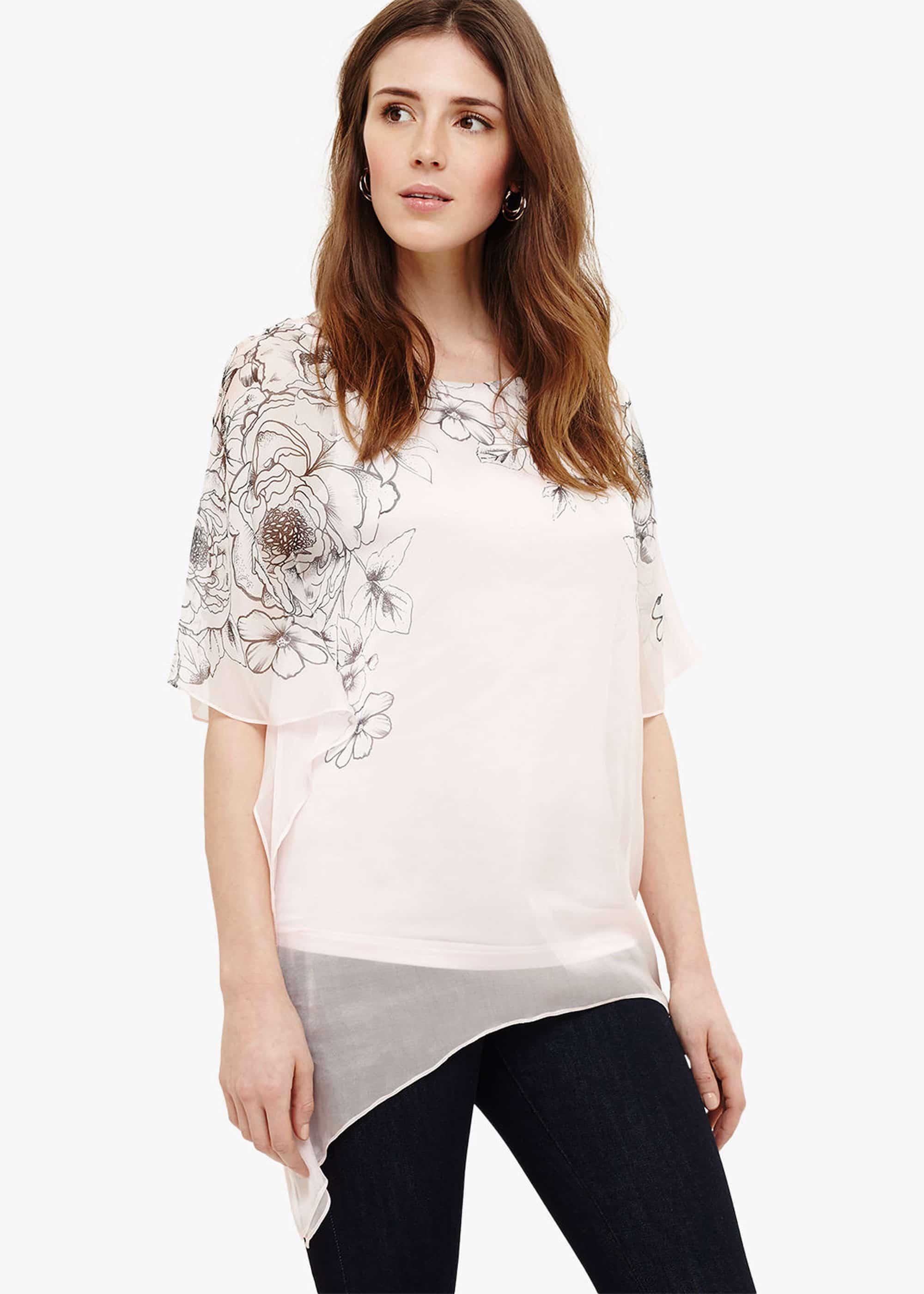 Phase Eight Women Ivana Silk Floral Blouse
