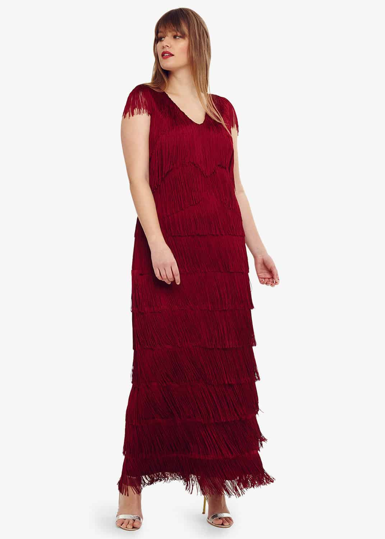 Studio 8 Women Esmerelda Fringe Maxi Dress