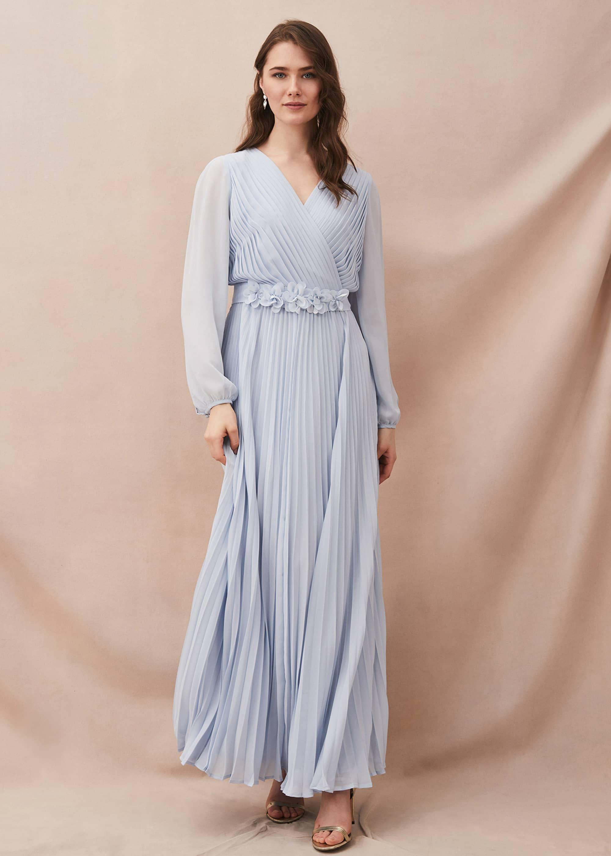 Phase Eight Women Alecia Pleated Chiffon Maxi Dress