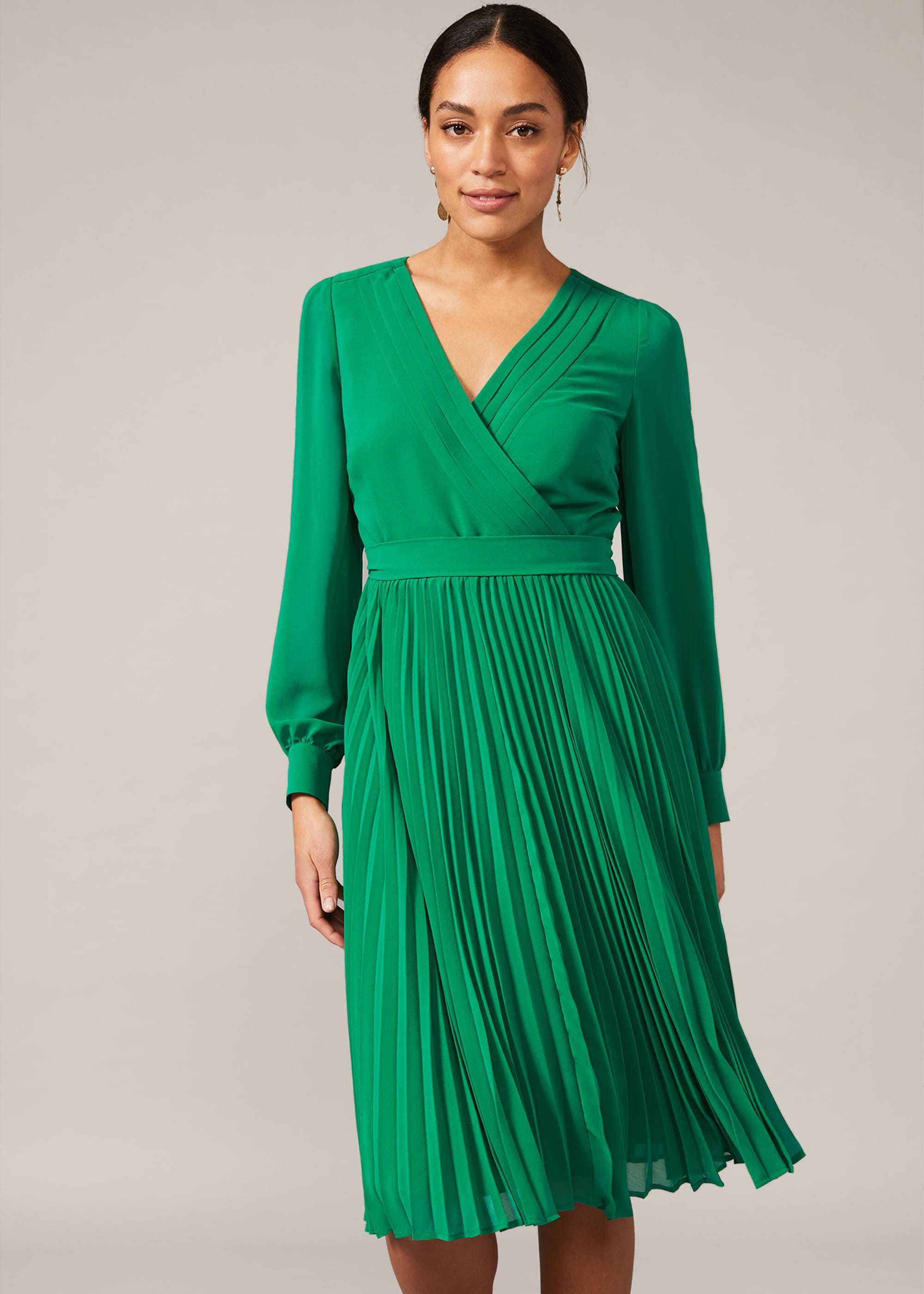 Phase Eight Women Isadora Pleated Dress