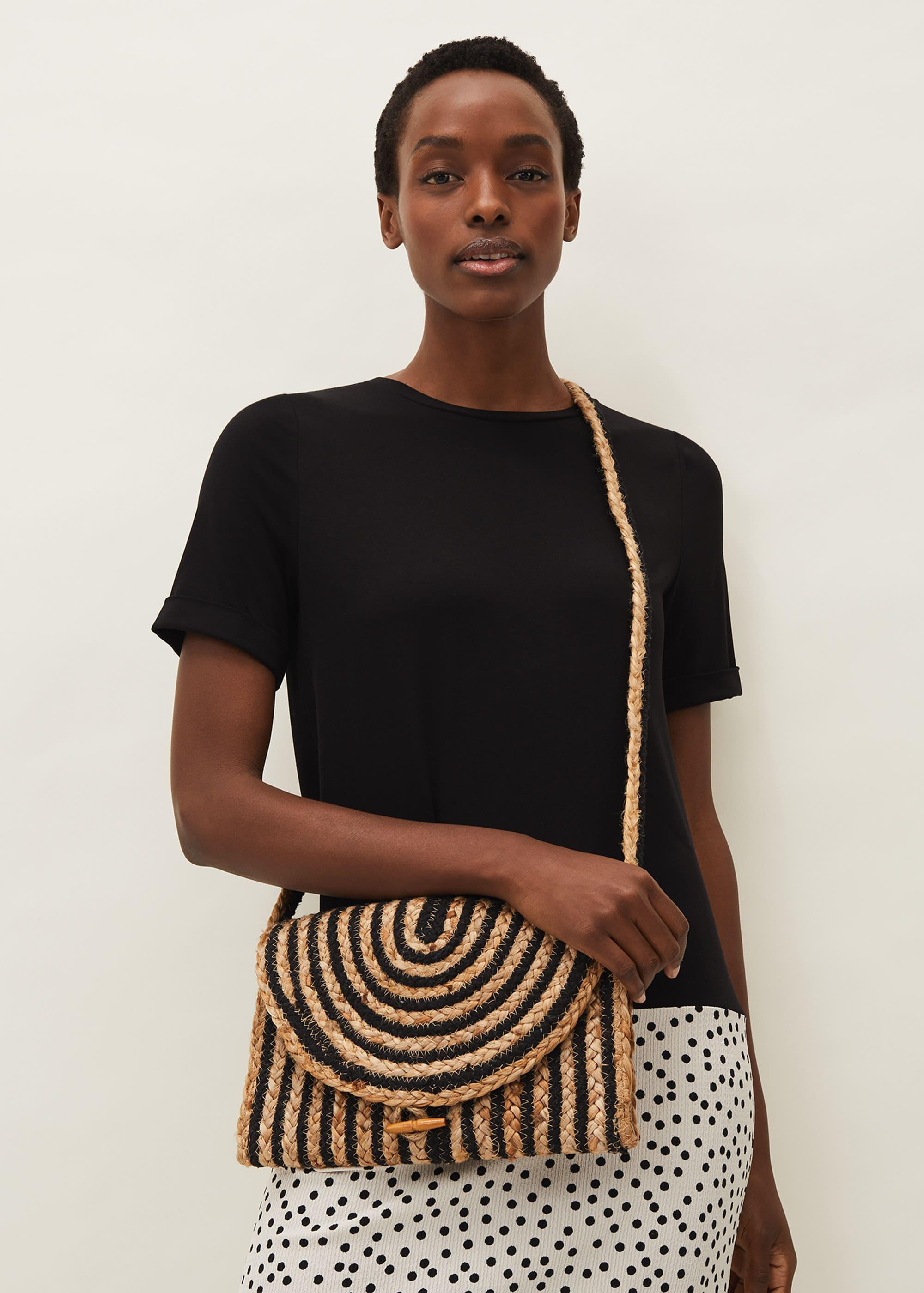 Phase Eight Women Claudia Cross Body Stripe Bag