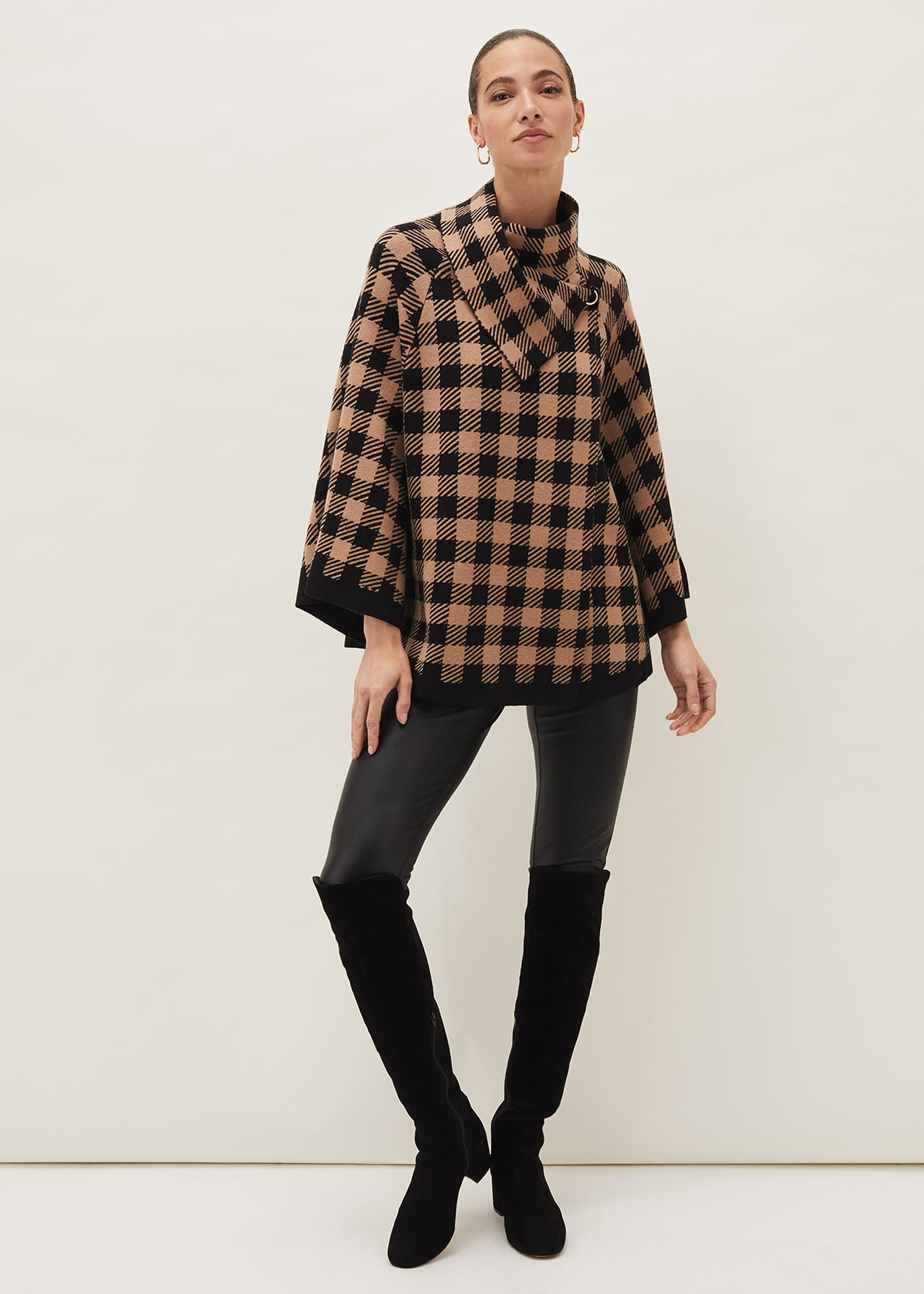 Phase Eight Women Miley Check Cape