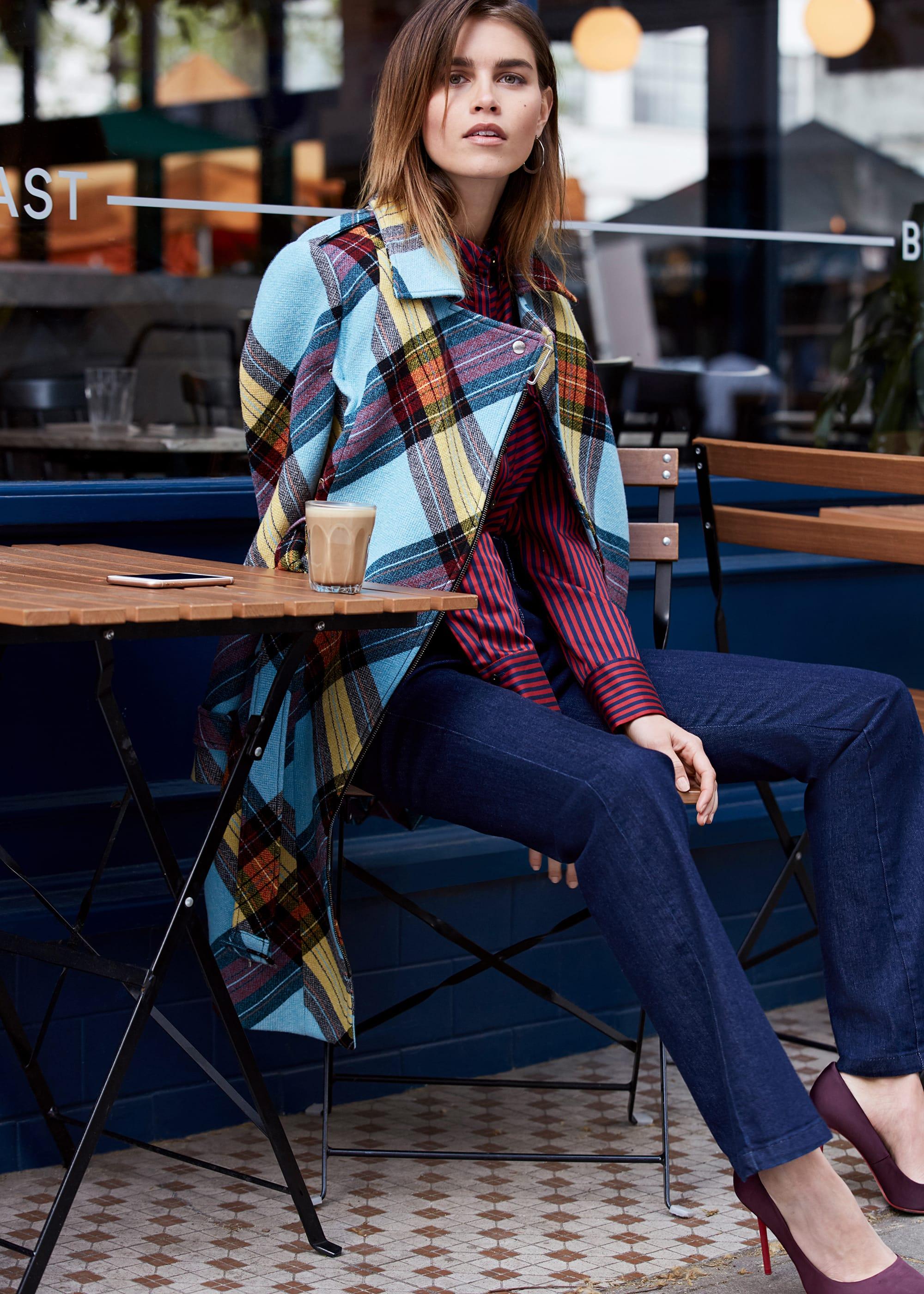 Damsel in a Dress Women Cariss Check Coat