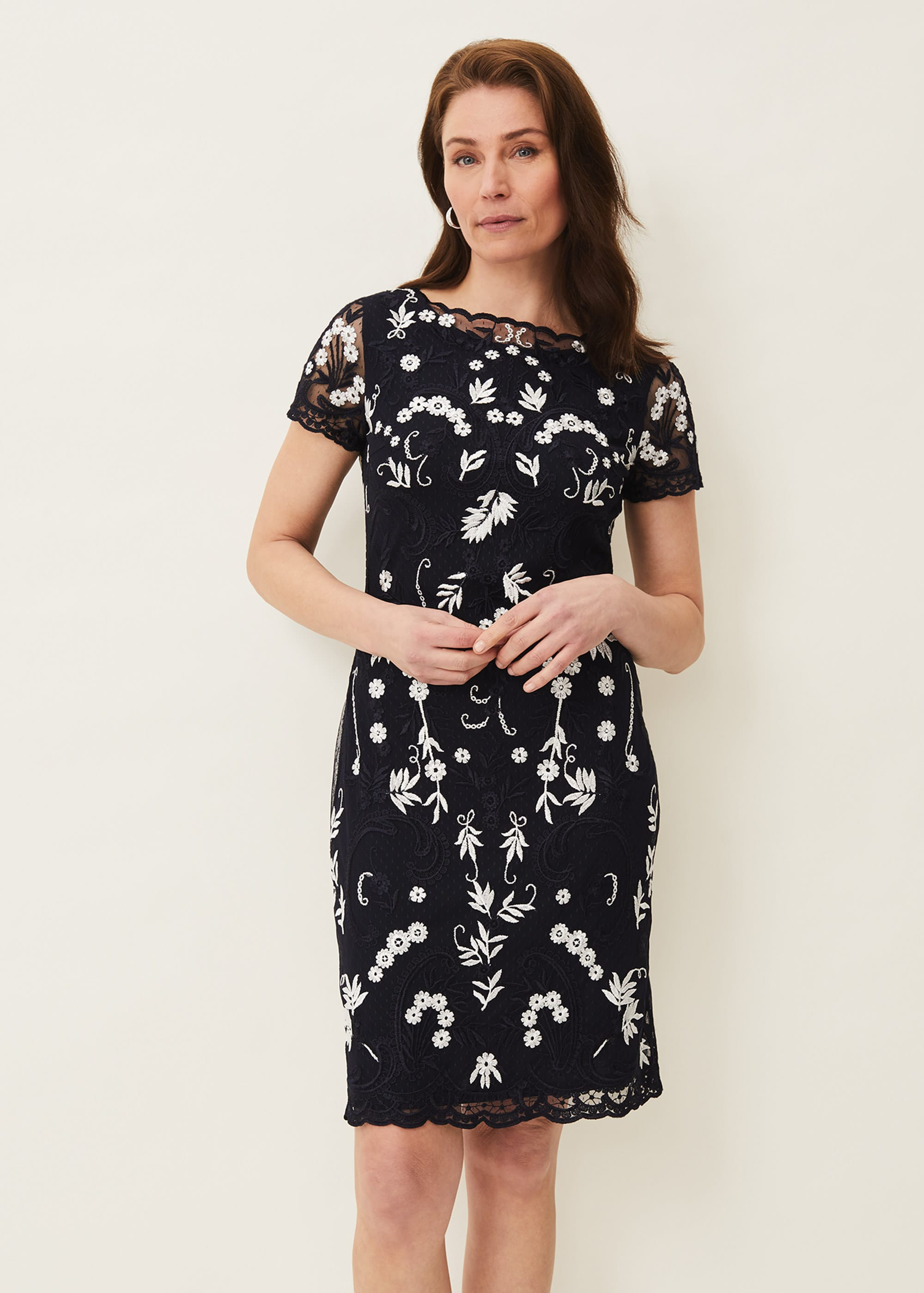 Phase Eight Women Floris Embroidered Shift Dress