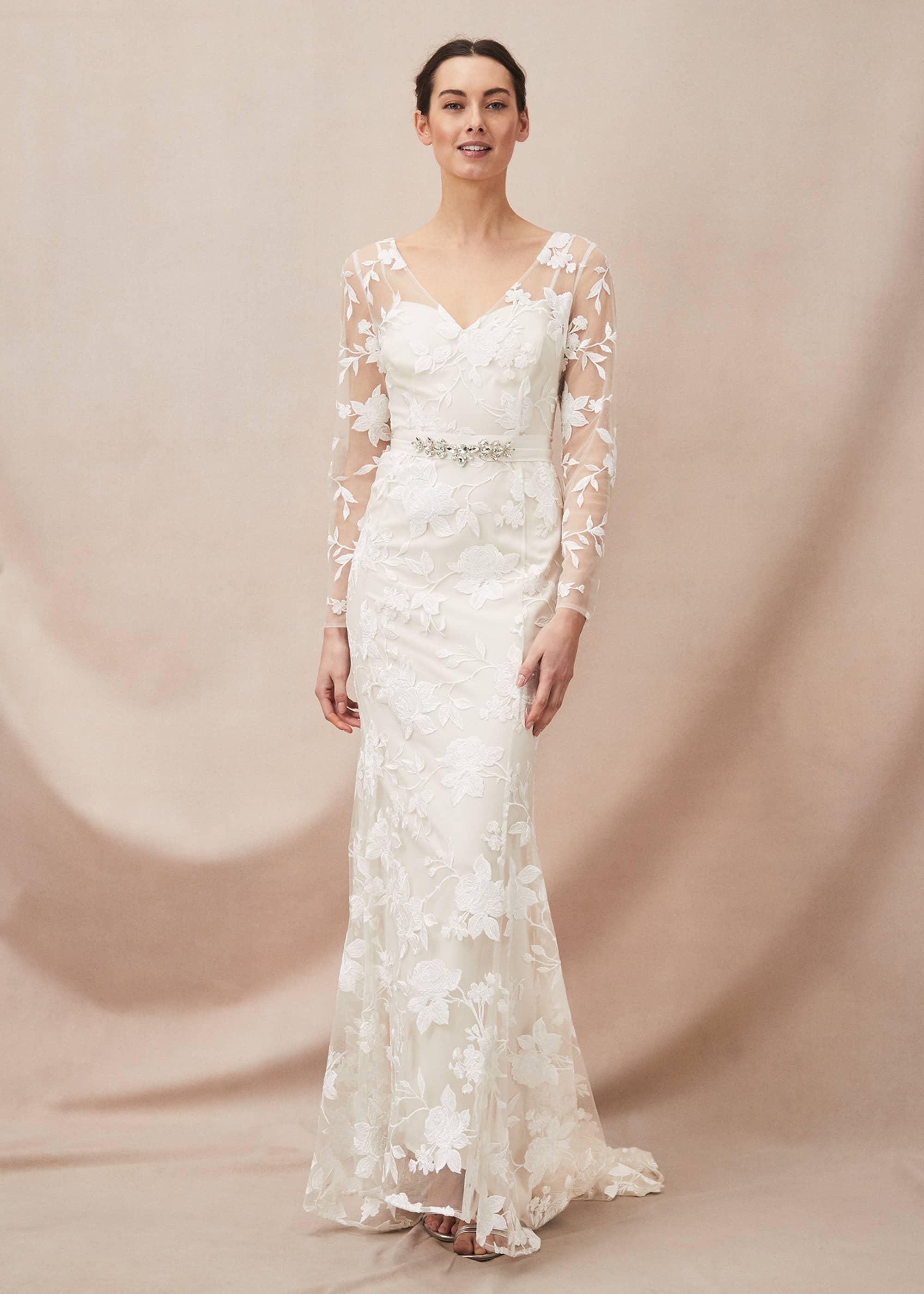 Phase Eight Women Saffron Lace Wedding Dress