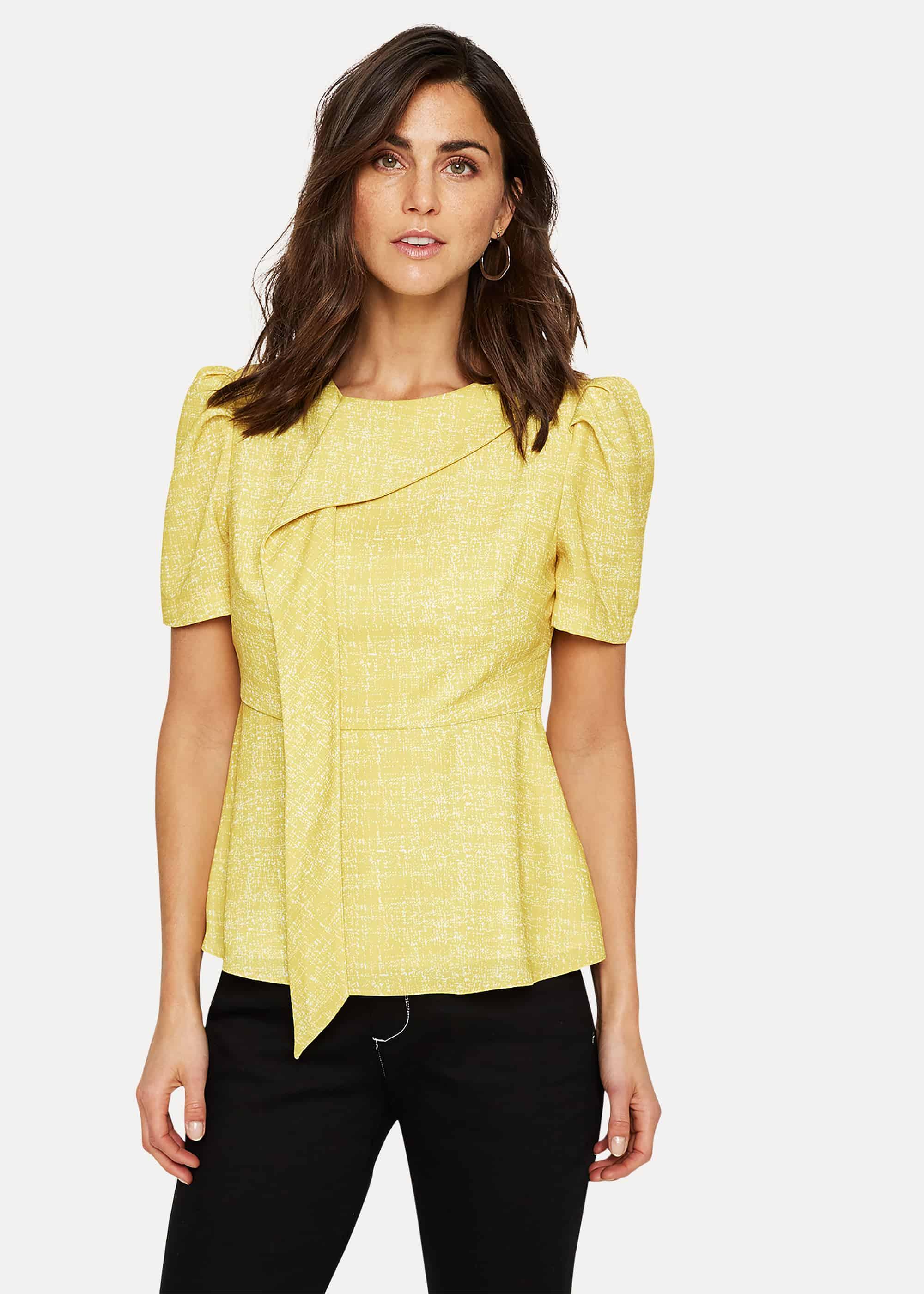 Damsel in a Dress Women Nanette Print Drape Blouse