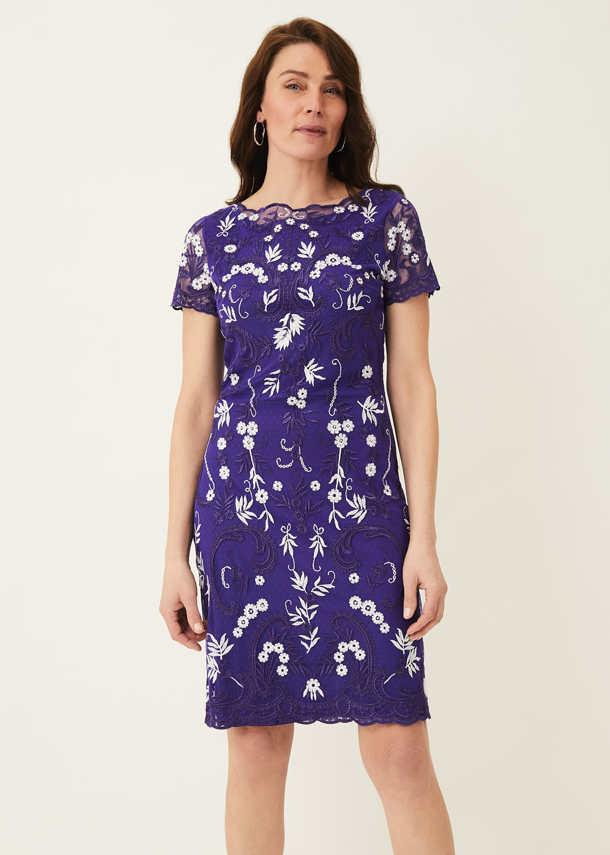 Phase Eight Women Floris Embroidered Dress