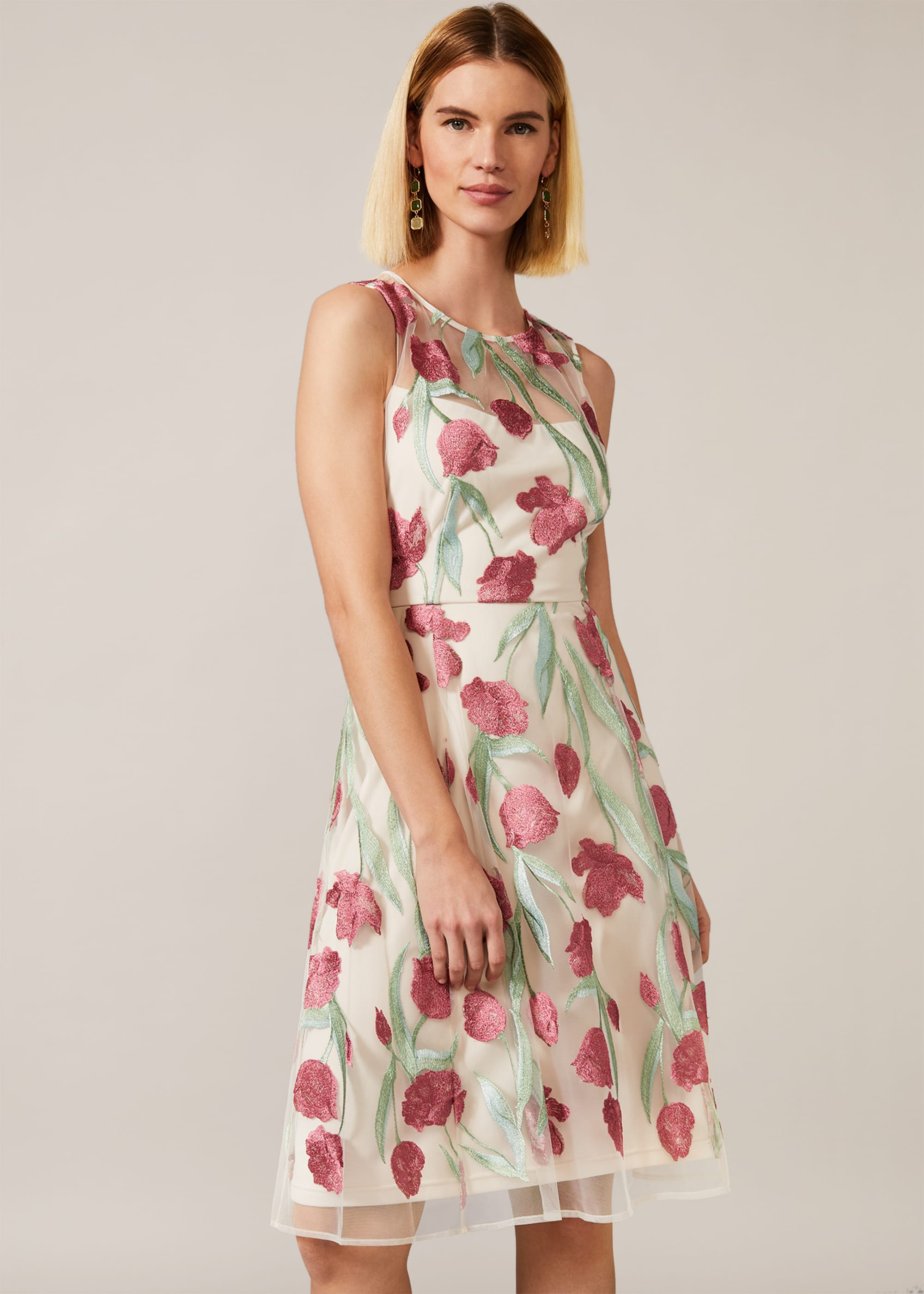 Phase Eight Women Shae Floral Embroidered Dress
