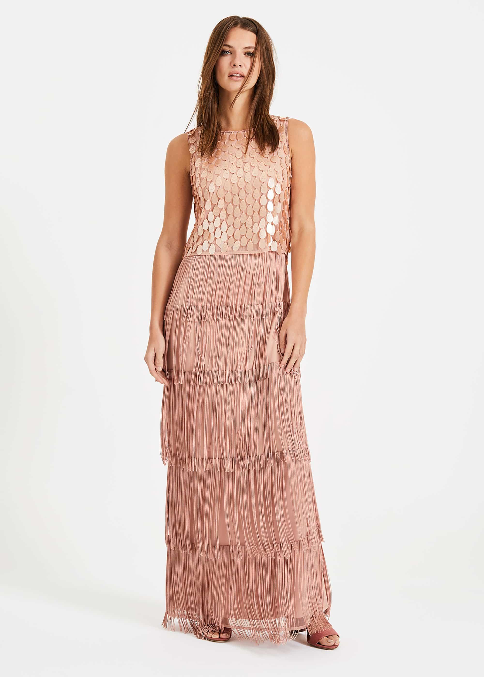 Phase Eight Women Amandine Fringe Maxi Dress