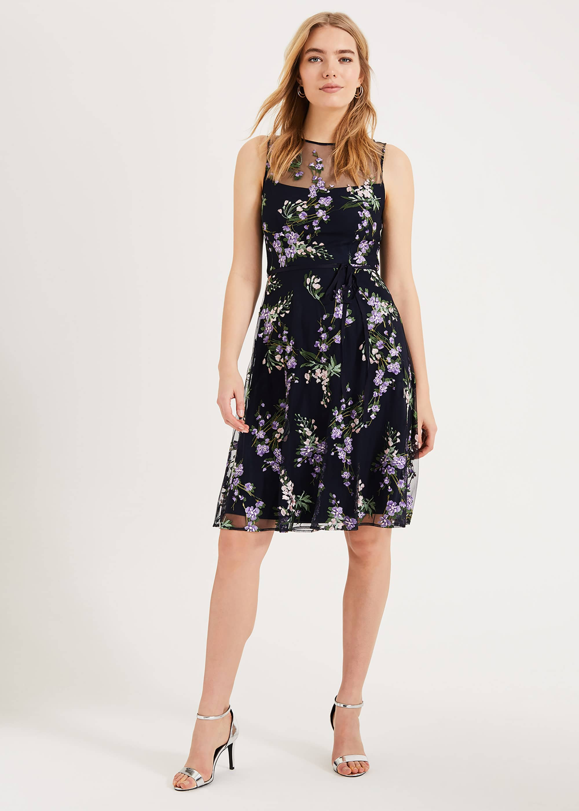 Phase Eight Women Lia Embroidered Dress